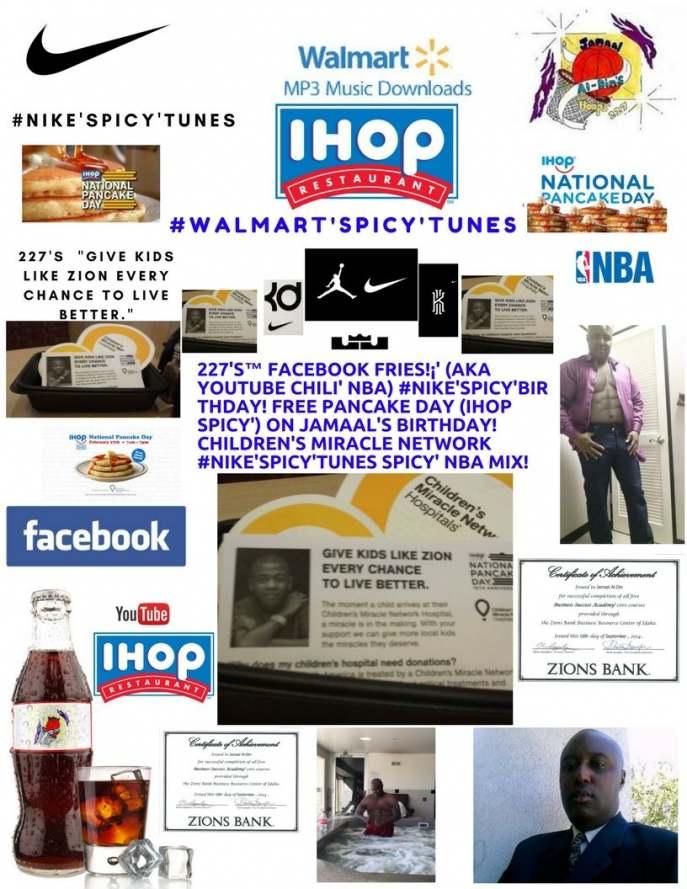 227's™ Facebook Fries!¡' (aka YouTube Chili' NBA) IHOP National Pancake Day