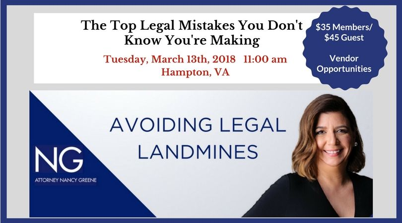 March 13th 2018 The Top Mistakes You Don't Know Yo