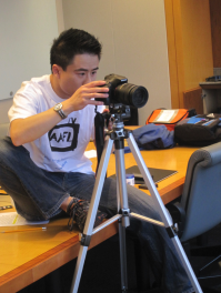 One of Film Lab's filmmakers at work