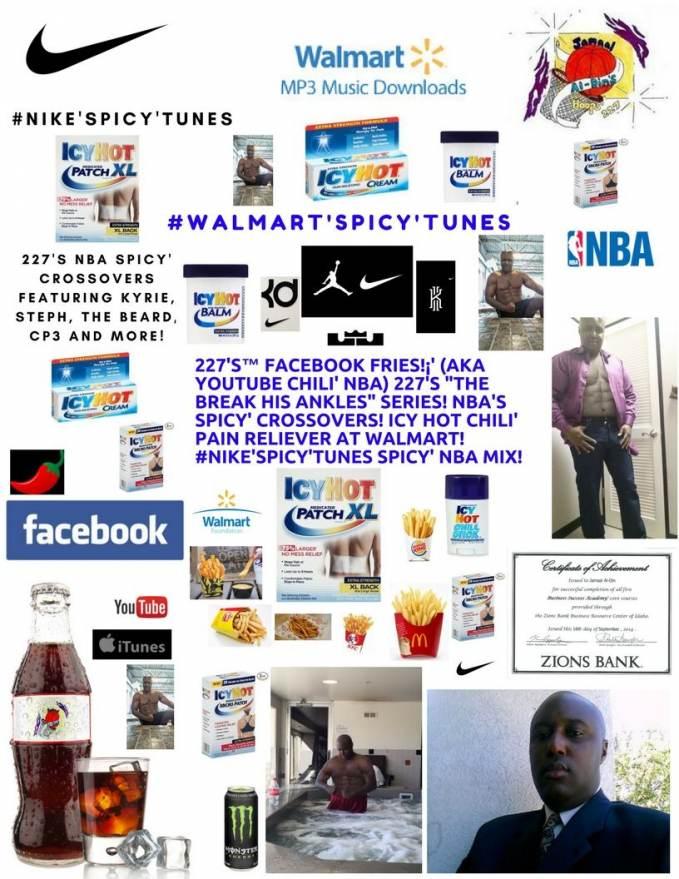 227's™ Facebook Fries!¡' (aka YouTube Chili' NBA) #IcyHot'Spicy' at Walmart!
