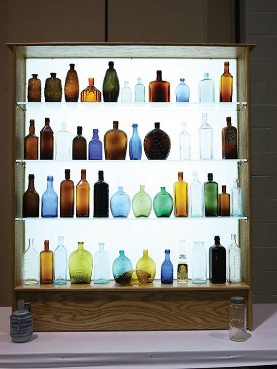 Is there anything more beautiful than vintage and antique bottles on display?