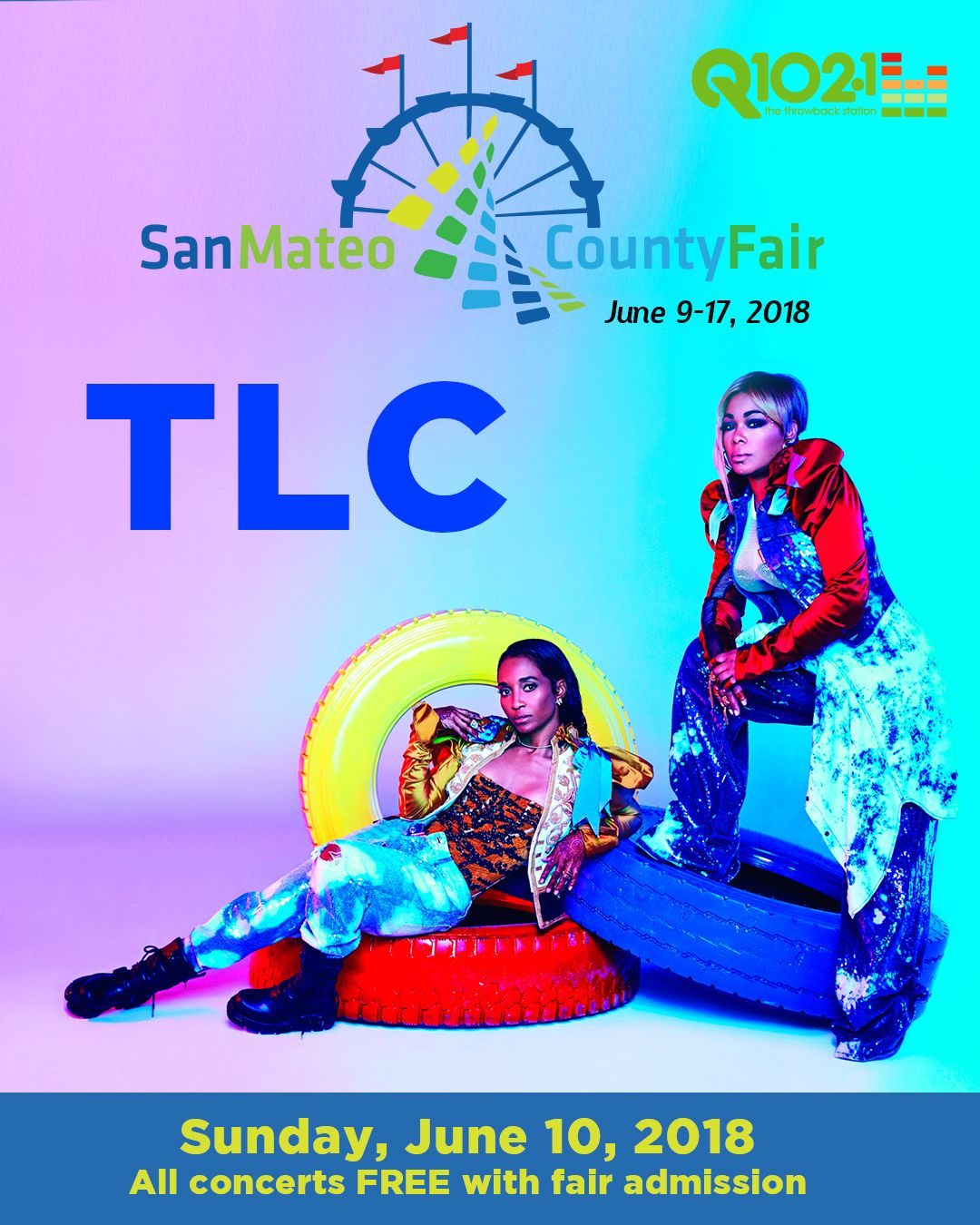 TLC headlines the San Mateo County Fair