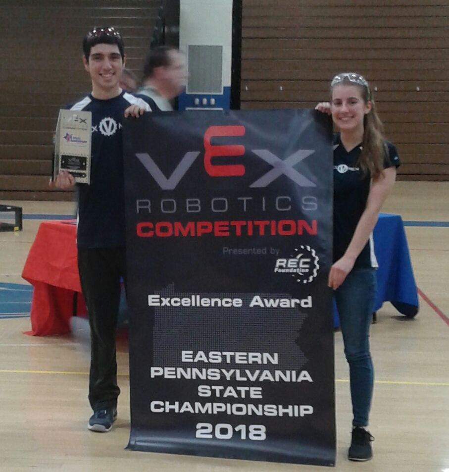 Team 91C wins Excellence Award at VEX State Tournament