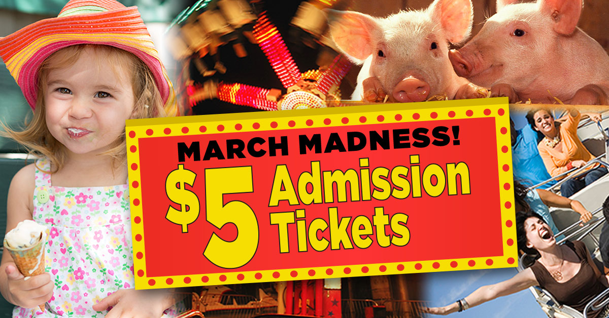 $5 March Madness tickets go on sale March 12 for 20 days only!