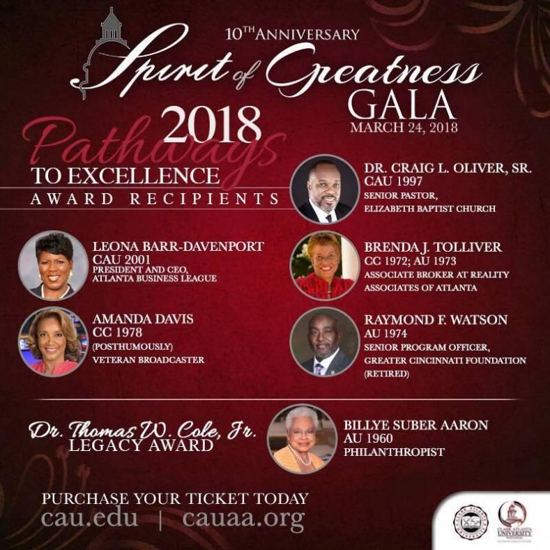 CAU 2018 Spirit of Greatness Gala