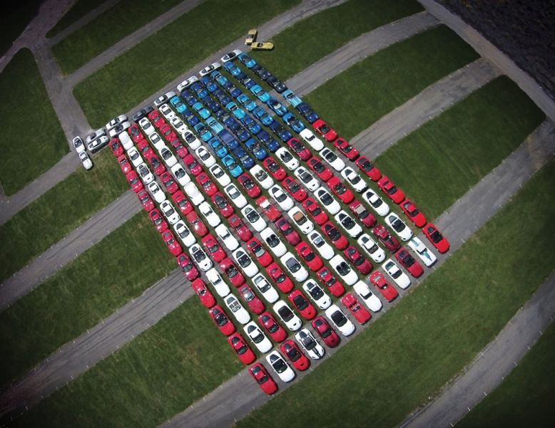 Corvettes at Carlisle American Flag