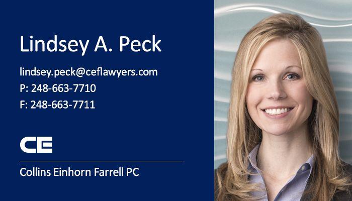 Appellate Attorney Lindsey A. Peck, Collins Einhorn Farrell PC