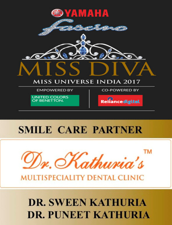 Dr. Kathuria are Smile Care Partner of Miss Diva 2017