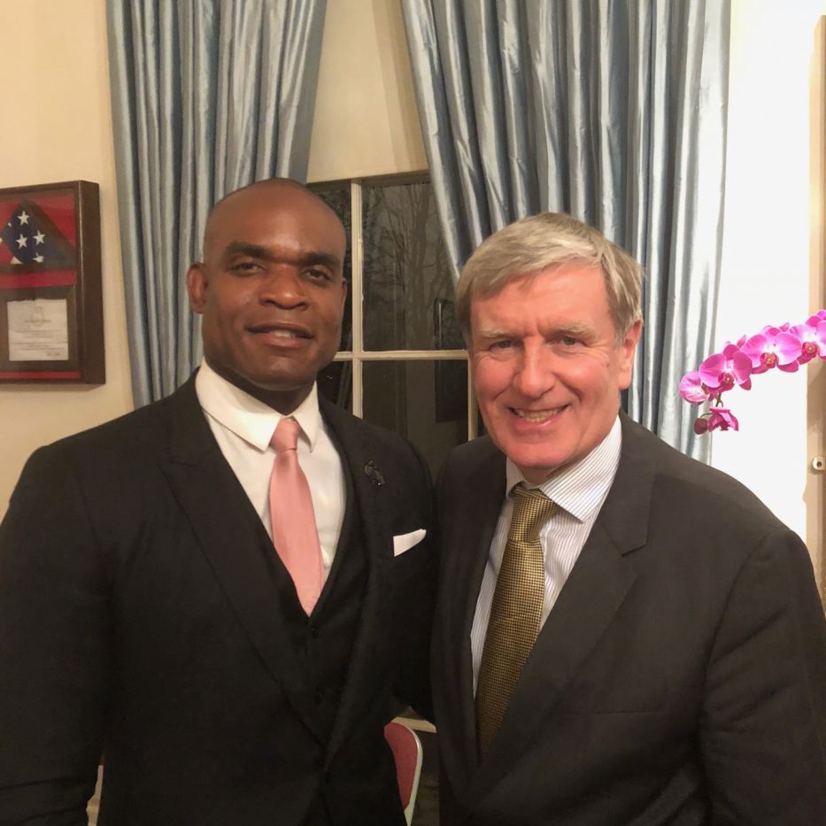 LEAP's CEO Dr. Clayton Lawrence with Ambassador Daniel Mulhall from Ireland.