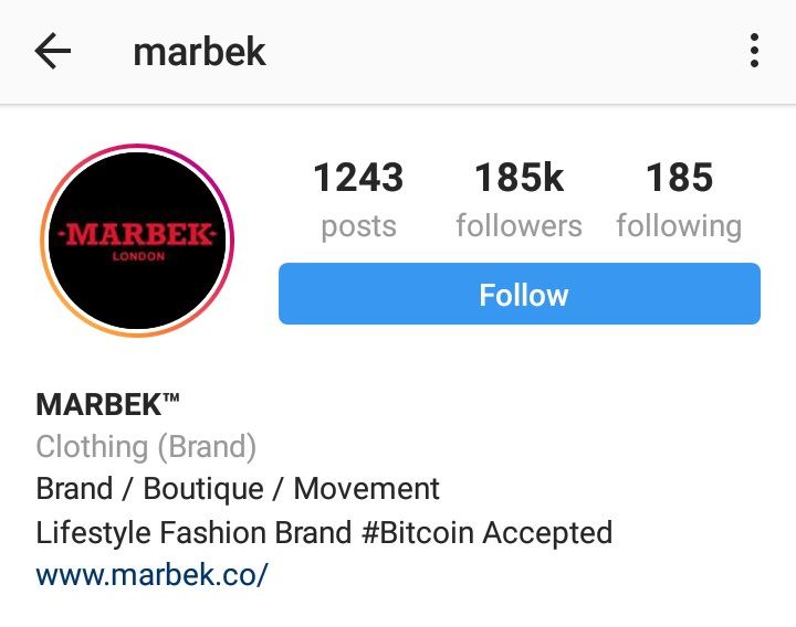 Marbek. London fashion company.