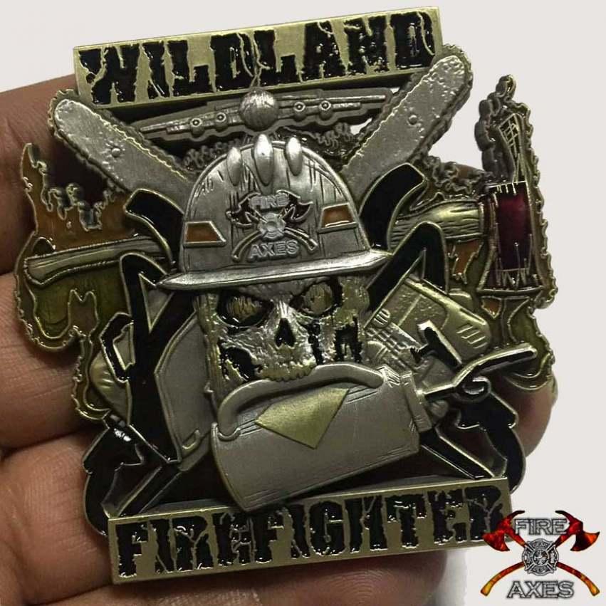 Drip Torch Wildland Firefighter Coin