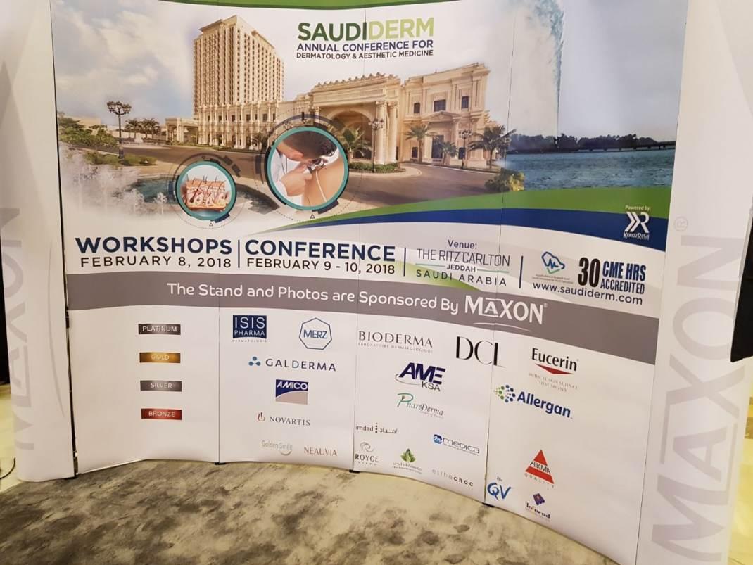 Maxon Sponsored Stands at SaudiDerm 2018.