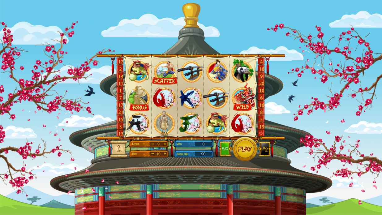 "Game design for the slot machine ""China"""