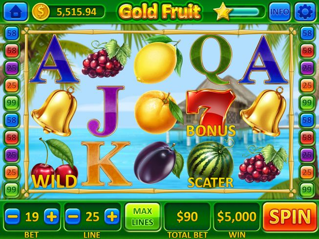 """Game design for the online slot machine """"Gold Fruits"""""""