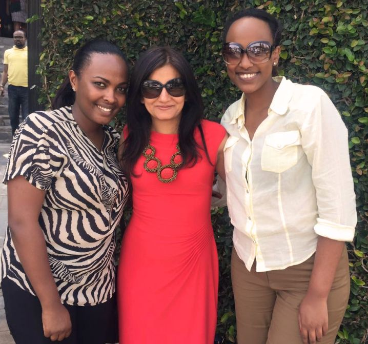 Sonu Ratra with Umubyeyi Divine (L) and Dianne Dusaidi (R)