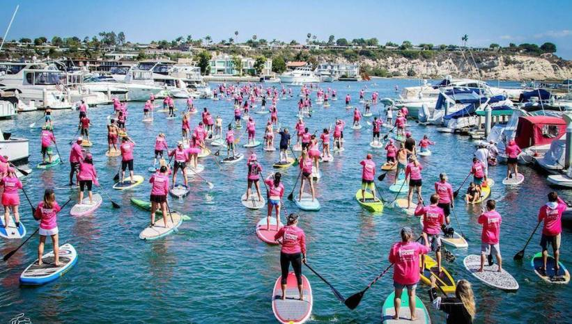 The Sea of Pink at Standup for the Cure Newport Beach