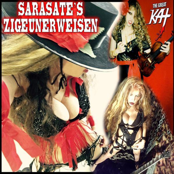 iTunes Premieres Great Kat Violin/Guitar Virtuoso Single Sarasate Zigeunerweisen