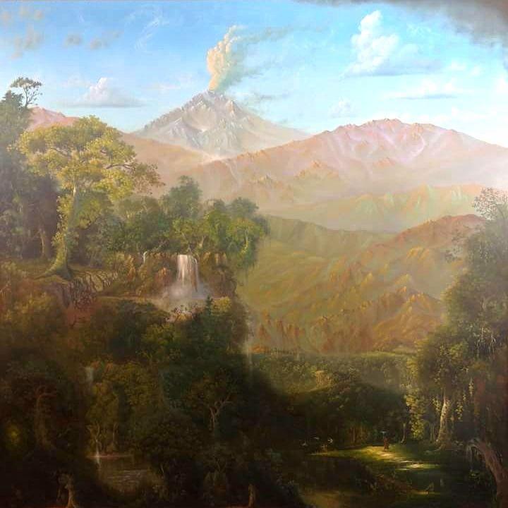"Austin Stilphen ~ ""A Pilgrimage through the Woods"" ~ Oil on Canvas 60"" x 60"""