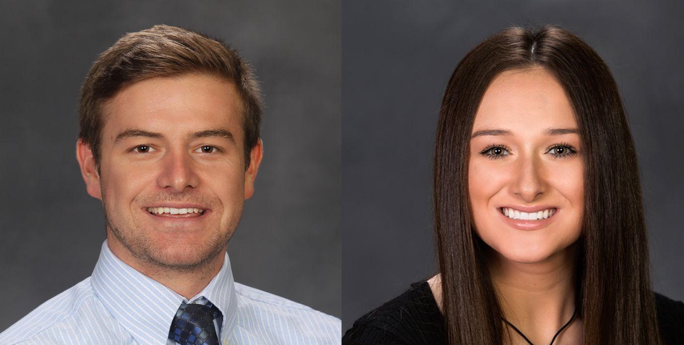 Moss and Sherman named Thiel College Students of the Month