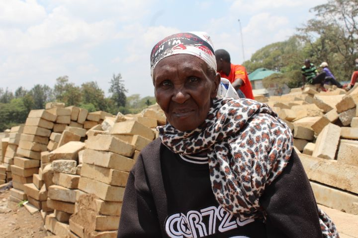 Charity Wairimu, an older woman who lives in one of Nairobi's largest slum
