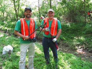 A Couple of Smiling Volunteers from Great Gwinnett Wetlands 2016