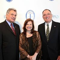 Pepenella with Freeholders Vicari and Little in 2014