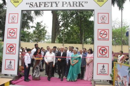Mr. Akito Tachibana inaugurating the Safety Park a