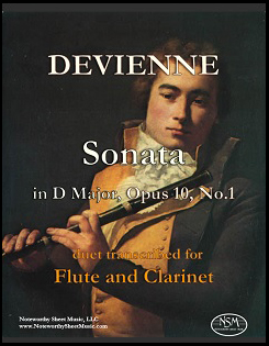 """Devienne's """"Sonata in D Major"""" for flute and clarinet"""