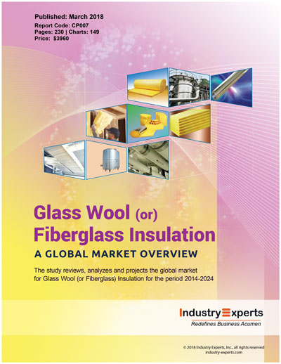 Growth in global construction activity spur demand for for Fiberglass wool insulation