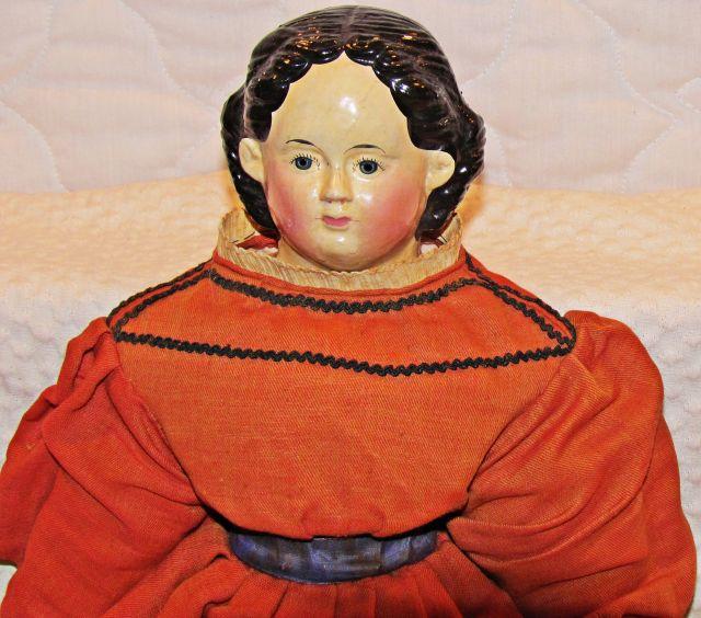 Ludwig Greiner handmade shoulder-head doll with handmade clothing, in fine shape