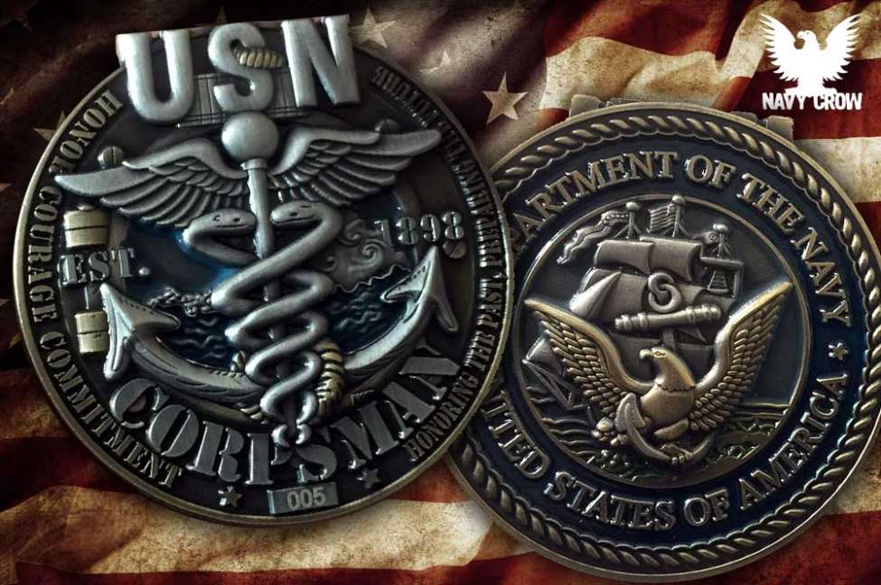 US Navy Corpsman Coin