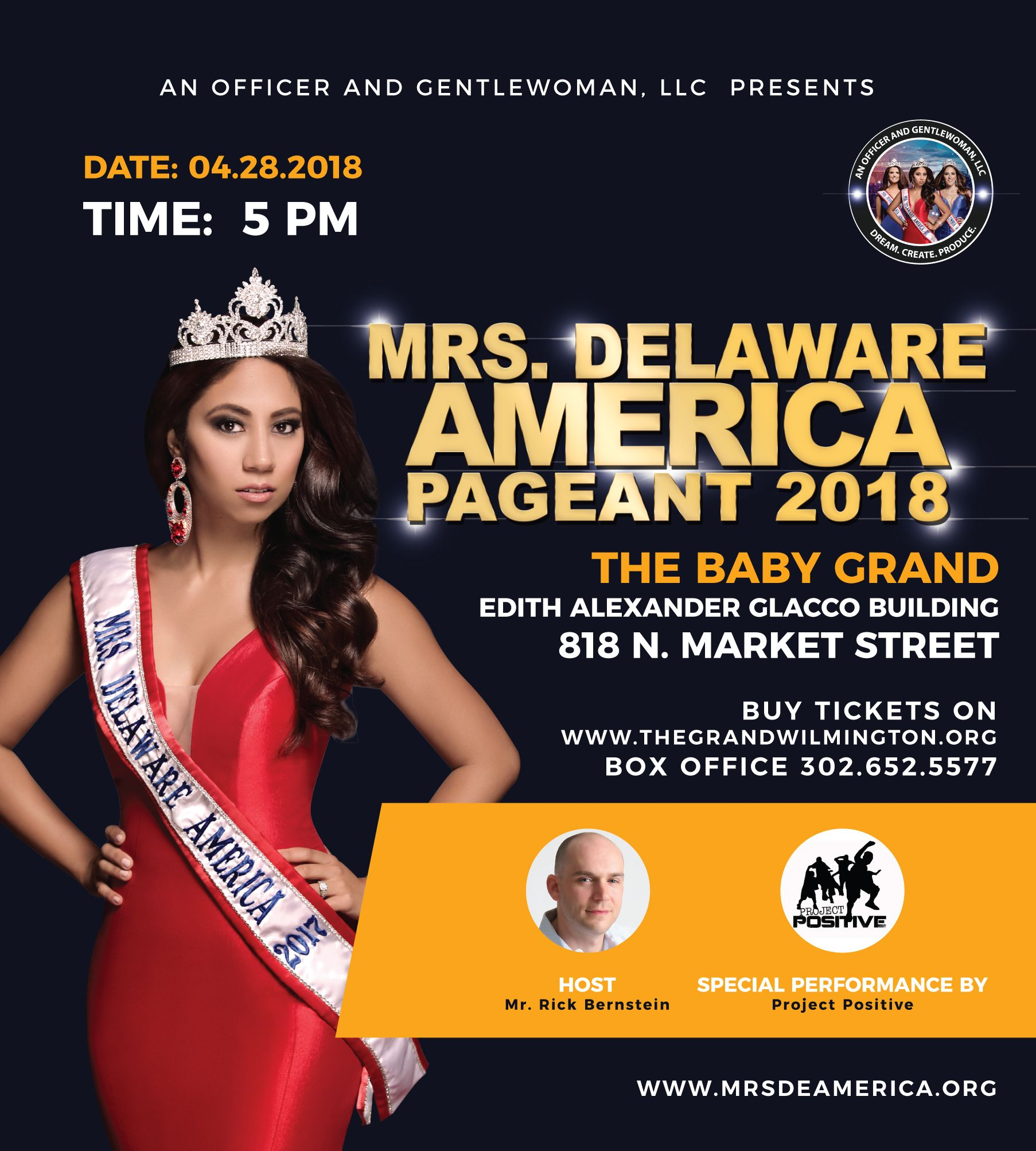 Mrs. Delaware America is April 28th at the Baby Grand Theatre