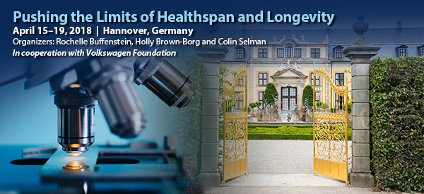 The first conference will be on healthspan and longevity in April 2018