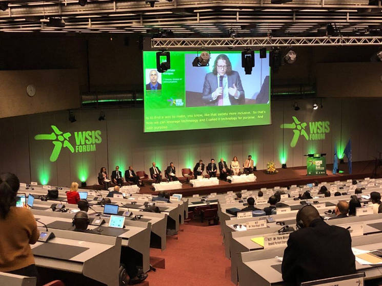 Yonathan Parienti, founder and CEO of Horyou, speaks at the WSIS Forum