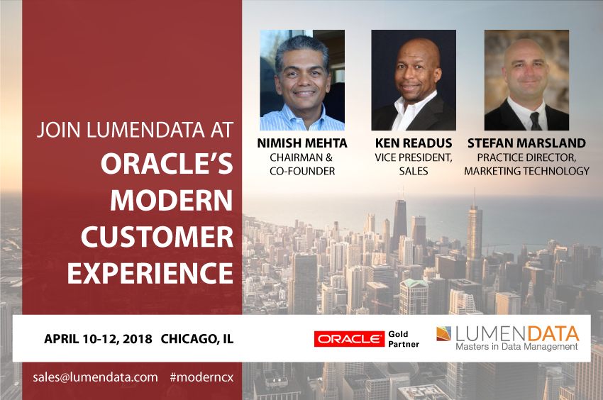LumenData will be at Oracle's #ModernCX April 10-12, 2018