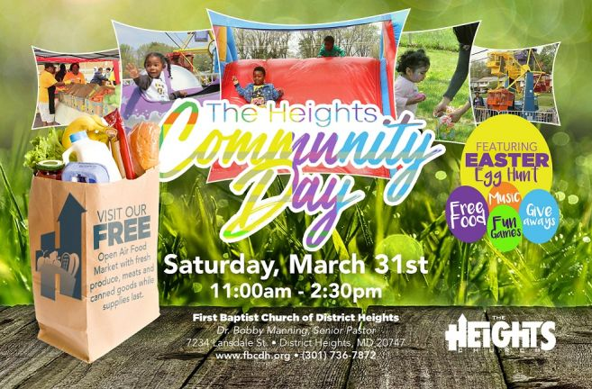 March 31 Easter Community Day Flyer