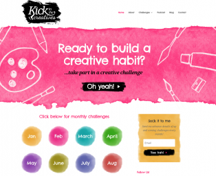 Kick in the Creatives Challenges by Month
