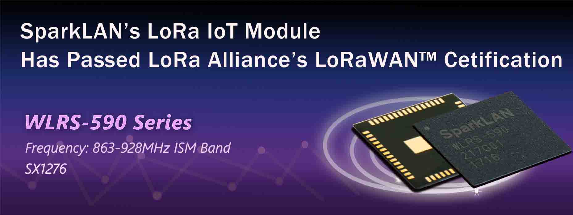 SparkLAN's LoRa IoT Module has Passed LoRa Alliance's