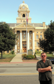 Director Anthony Hornus in front of one of the great locations
