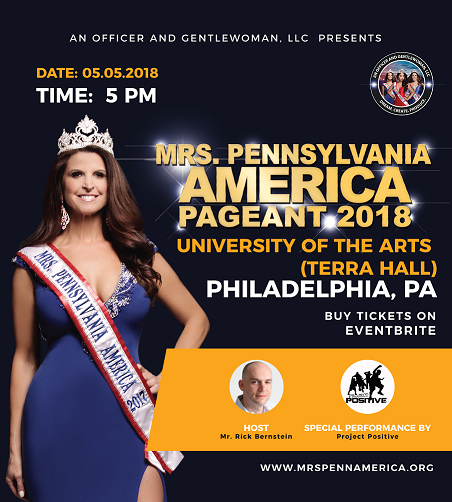 Mrs. PA America is May 5th at 5pm in Philadlephia