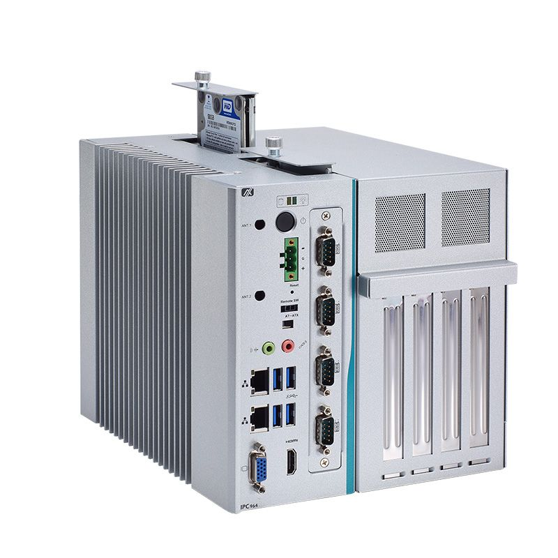 Axiomtek's latest fanless industrial PC, the IPC964-512-FL