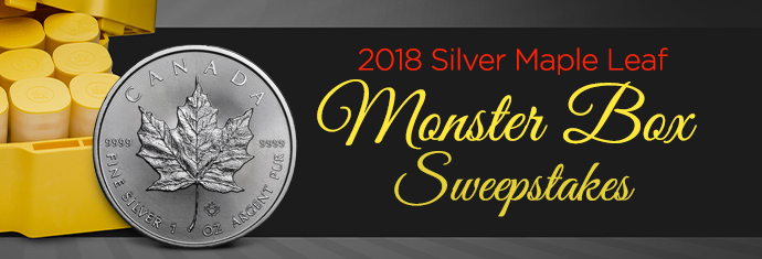 2018 Silver Maple Leaf Monster Box Sweepstakes