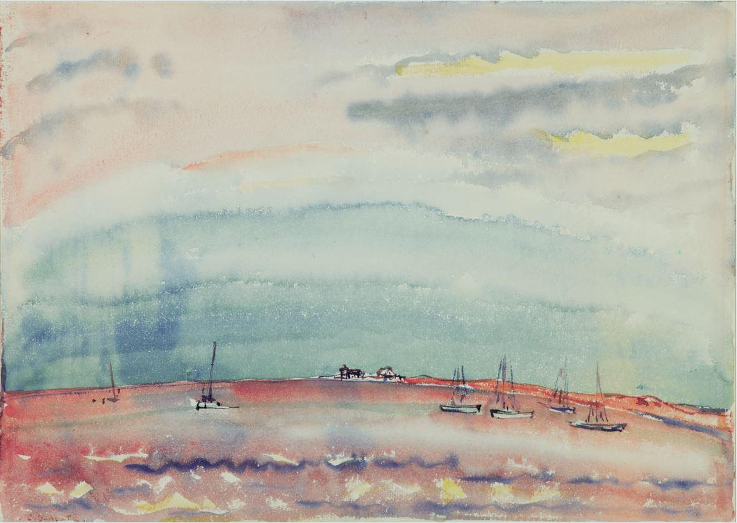 Charles Demuth, Marine, n.d., watercolor on paper, courtesy the Demuth Museum