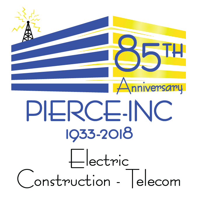 Pierce Inc. 85th Anniversary Logo