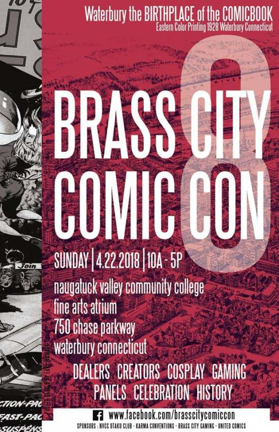 Brass City Comic Con 8 will be held April 22 to benefit Acts 4 Ministry, Inc.
