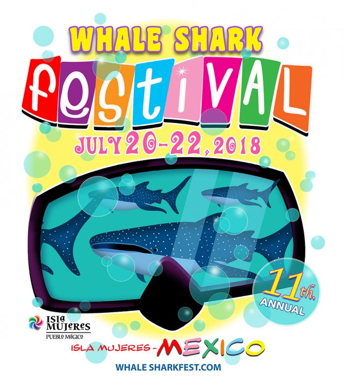 Isla Mujeres Whale Shark Festival Logo 2018