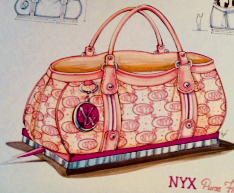 Krewe of Nyx Purse Float Sketch