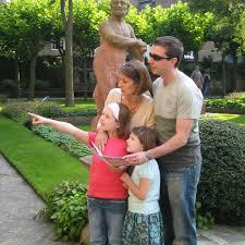 family exploring