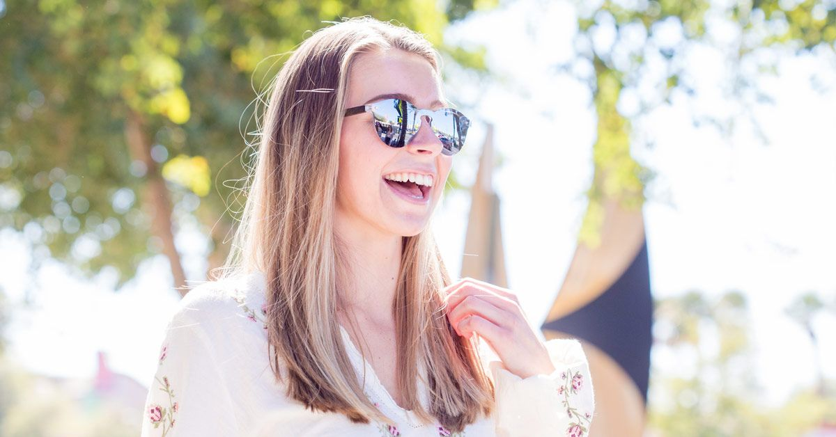 """Reflective Round Wood Sunglasses """"Rio"""" from GoWood"""