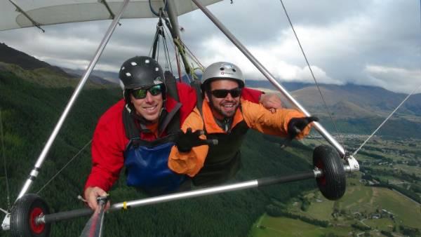 Calvin Young paragliding